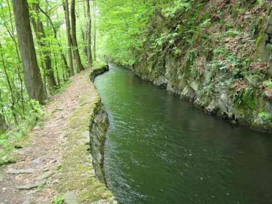 Weisshuhnův kanál 20 - kanál nedaleko tunelu u Moravice