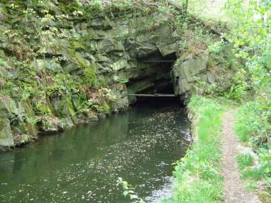 Weisshuhnův kanál 60 - ústí druhého tunelu