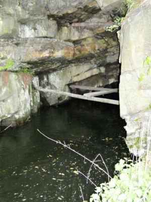 Weisshuhnův kanál 61 - ústí druhého tunelu