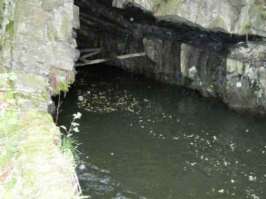Weisshuhnův kanál 64 - vyústění druhého tunelu