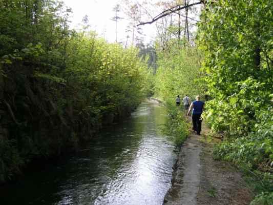 Weisshuhnův kanál 66 - kanál v závěru trasy