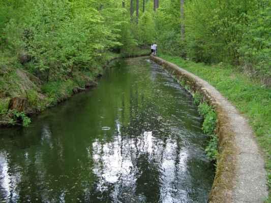 Weisshuhnův kanál 70 - kanál v závěru trasy