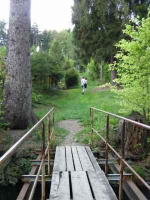 Weisshuhnův kanál 72 - mostek kde jsme kanál opustili