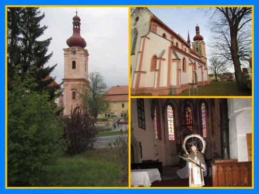 Původní románský kostel svatého Jakuba Většího na Přesanickém náměstí, založený mnichy cisterciáckého kláštera ve 12. století, byl na konci 13. století přestavěn v gotickém slohu do podoby trojlodní baziliky. Zvláštností je barokní věž, postavená nezvykle v ose presbyteria koncem 18. století. V interiéru se dochovalo mnoho cenných prvků, včetně náhrobku Ladislava ze Šternberka z roku 1566. Mobiliář kostela tvoří ucelená neogotická kolekce z let 1858–1560. Vedle kostela stojí budova arciděkanství s mansardovou střechou, přestavěná po požáru roku 1746 podle plánů K. I. Dienzenhofera. V kostele byl pokřtěn sv. Jan Nepomucký.