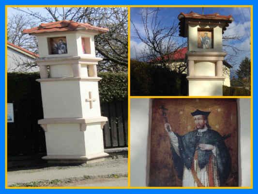 Turecká boží muka v Třebčické ulici - na pamět padlých nepomuckých vojáků, kteří v letech 1593-1606 padli v boji proti turkům pod velením Ladislava ze Šternberka