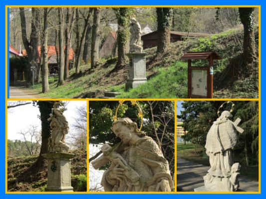 socha sv.Jana je vlastně už v Klášteře, kouse před hospůdkou Knárovka - Socha vznikla v roce 1718 a vytvořil ji sochař Pop, který na Knárovce bydlel a pracoval ve službách Šternberků
