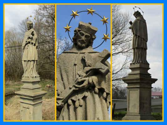 opravená socha v Třebčicích - snad jsme obešli všechny památky se sv.|Janem Nepomuckým a kolik jich tedy bylo?
