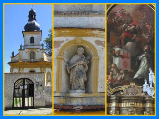 Podívejte se do nejlblížšího okolí Nepomuka - Nové Mitrovice, kde je kostel sv. Jana Nepomuckého, potřeboval by opravu, ale oltářní obraz je už pěkně zrestaurovaný