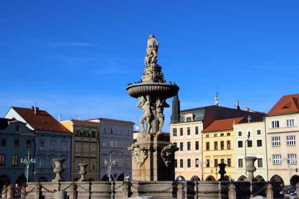 Samsonova kašna je jedním ze symbolů Českých Budějovic. Byla vystavěna mezi lety 1720 - 1727.