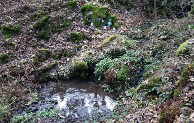 A tohle už je vodníček, který hlídá potůček z Třebsína.