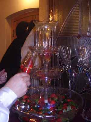 Fontána se šampaňským a jahodami